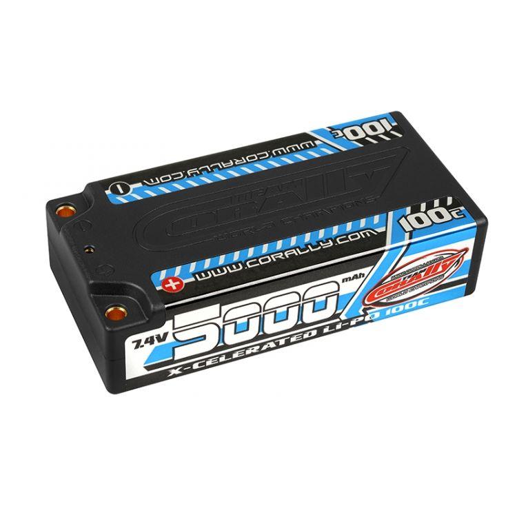 X-CELERATED 100C LiPo Shorty Hardcase-5000mAh-7.4V-G4 (35,52Wh)