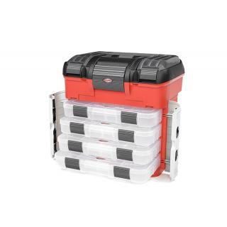 Přepravní plastový kufr Pit Car se 4 šuplíky a pěnovou. vložkou