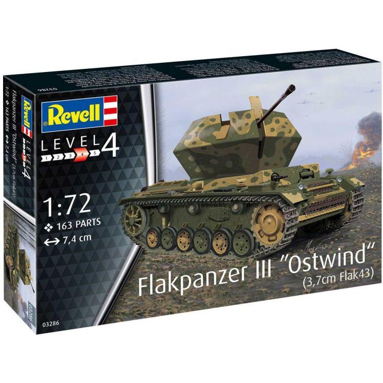 "Plastic Modelkit tank 03286 - Flakpanzer III""Ostwind""(3,7cm Fl (1:72)"