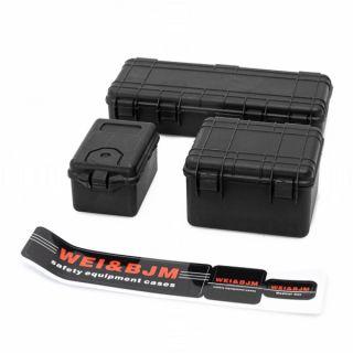Sada 3 černých ochranných kufrů