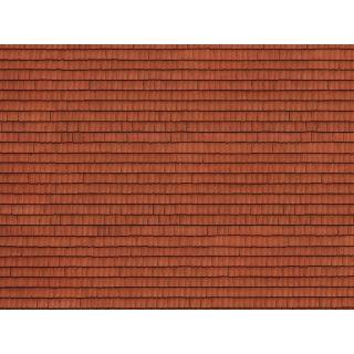 3D kartónová doska, červené dlaždice 25 x 12,5 cm / ks  NO56670