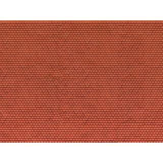 3D kartónová doska, červený bobrí chvost 25 x 12,5 cm / ks  NO56690