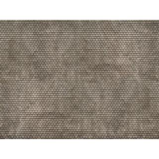 3D kartónová doska, sivý bobrí chvost 25 x 12,5 cm / ks  NO56691