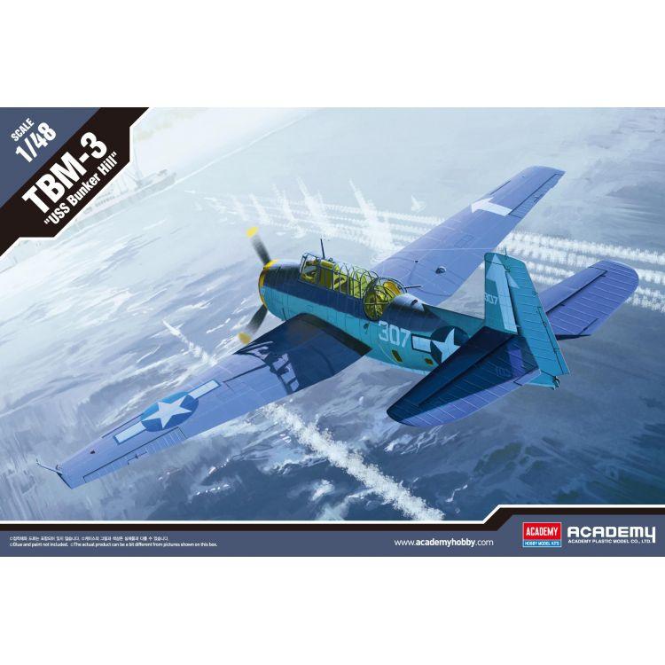 """Model Kit letadlo 12285 - TBM-3 """"USS BUNKERHILL"""" (1:48)"""