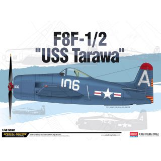 "Model Kit letadlo 12313 - F8F-1/2 ""USS Tarawa"" LE: (1:48)"