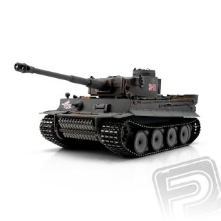 TORRO tank 1/16 RC Tiger I Early Vers. šedý - infra
