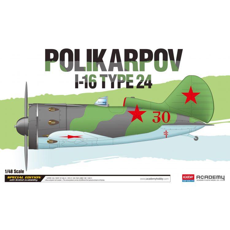 Model Kit letadlo 12314 - Polikarpov I-16 Type 24 LE: (1:48)