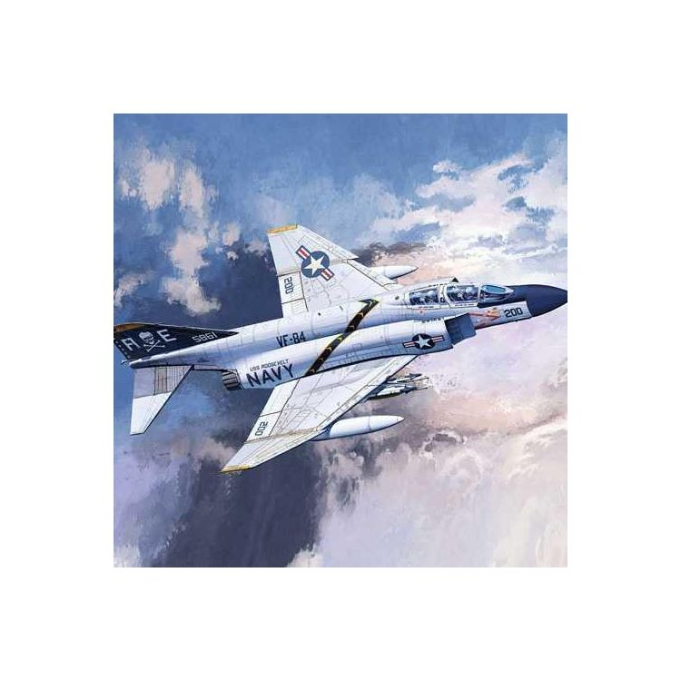 "Model Kit letadlo 12529 - USN F-4J ""VF-84 Jolly Rogers"" (1:72)"