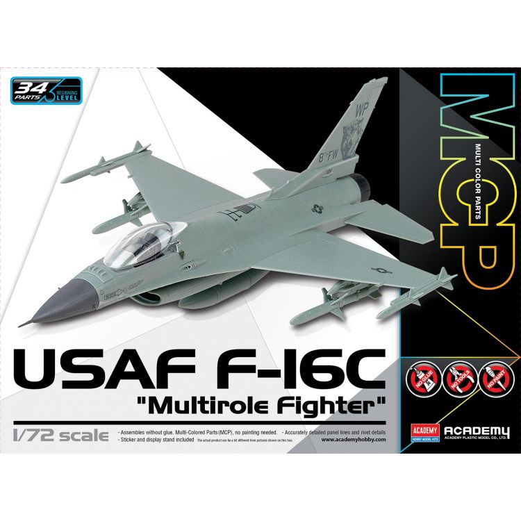 "Model Kit letadlo 12541 - USAF F-16C ""Multirole Fighter"" MCP (1:72)"