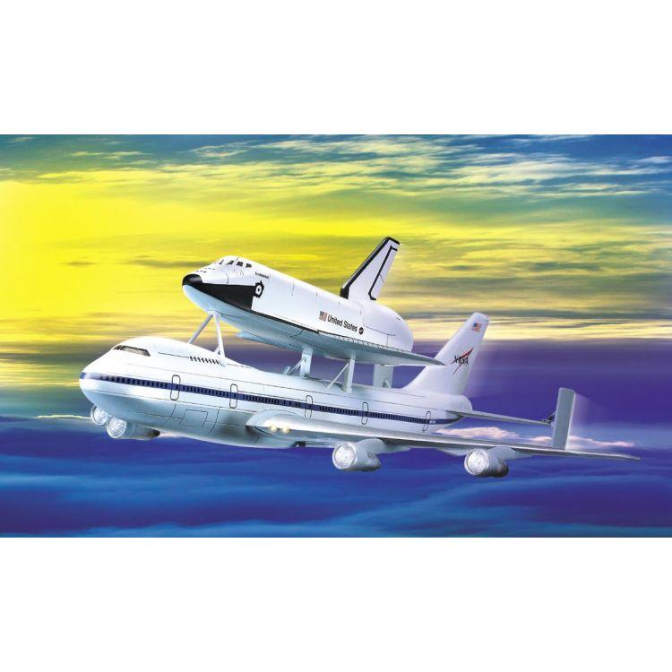 Model Kit vesmír 12708 - 1/288 SHUTTLE & 747 CARRIER (1:288)