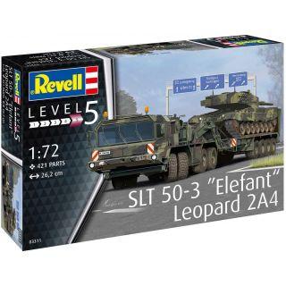 "Plastic Modelkit military 03311 - SLT 50-3 ""Elefant"" + Leopard 2A4 (1:72)"