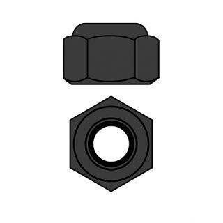 Ocelové Nylon STOPmatky M2 - černé - 10 ks.