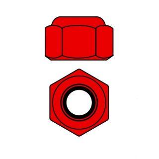 Hliníkové Nylon STOPmatky M2 - červené - 10 ks.