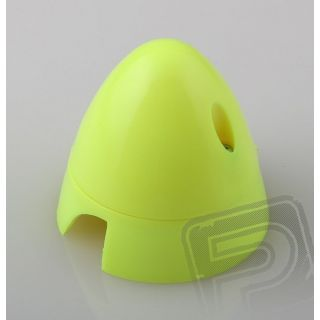 Fluor.kužel 57mm žlutý 2-listý
