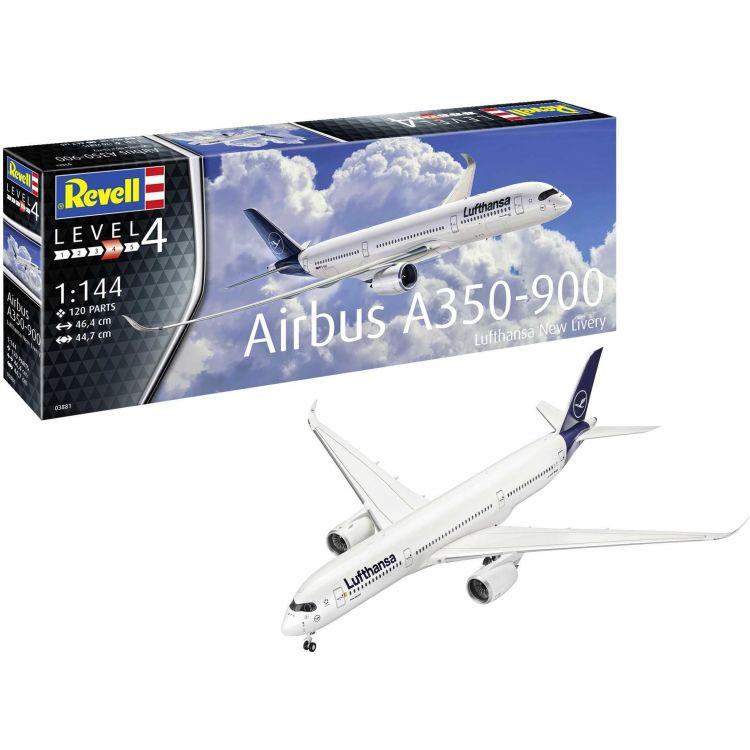 Plastic ModelKit letadlo 03881 - Airbus A350-900 Lufthansa New Livery (1:144)