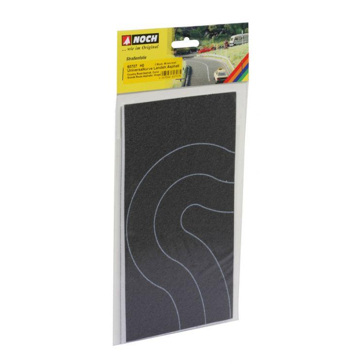 Asfaltová cesta zákruta, 2ks, 6,6 cm  NO60707