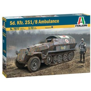 Model Kit military 7077 - Sd.Kfz. 251/8 Ambulance (1:72)