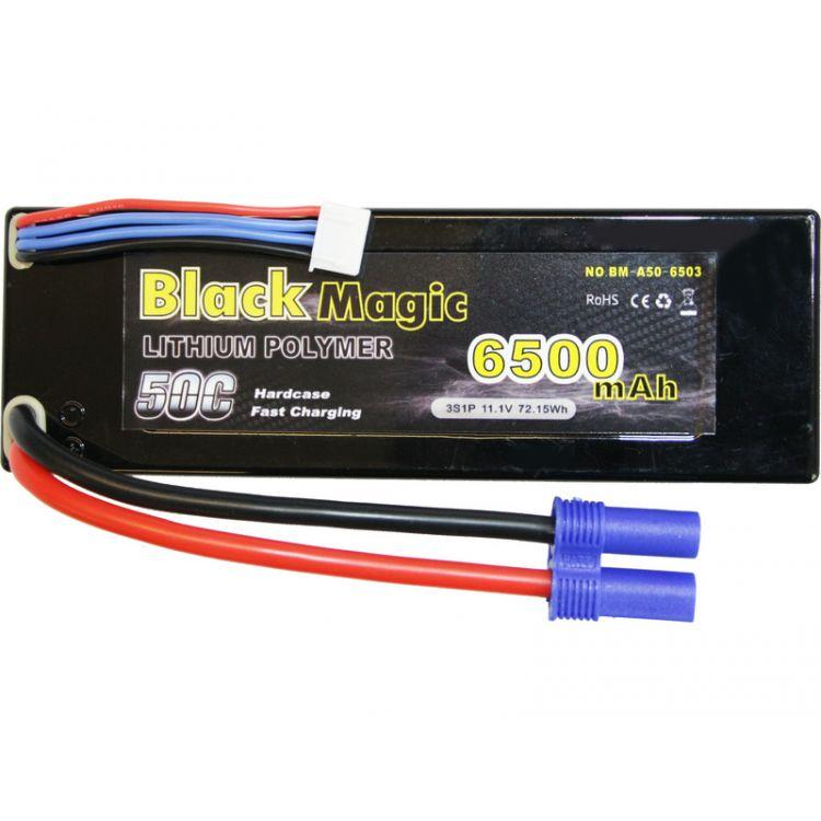 Black Magic LiPol Car 11.1V 6500mAh 50C EC5