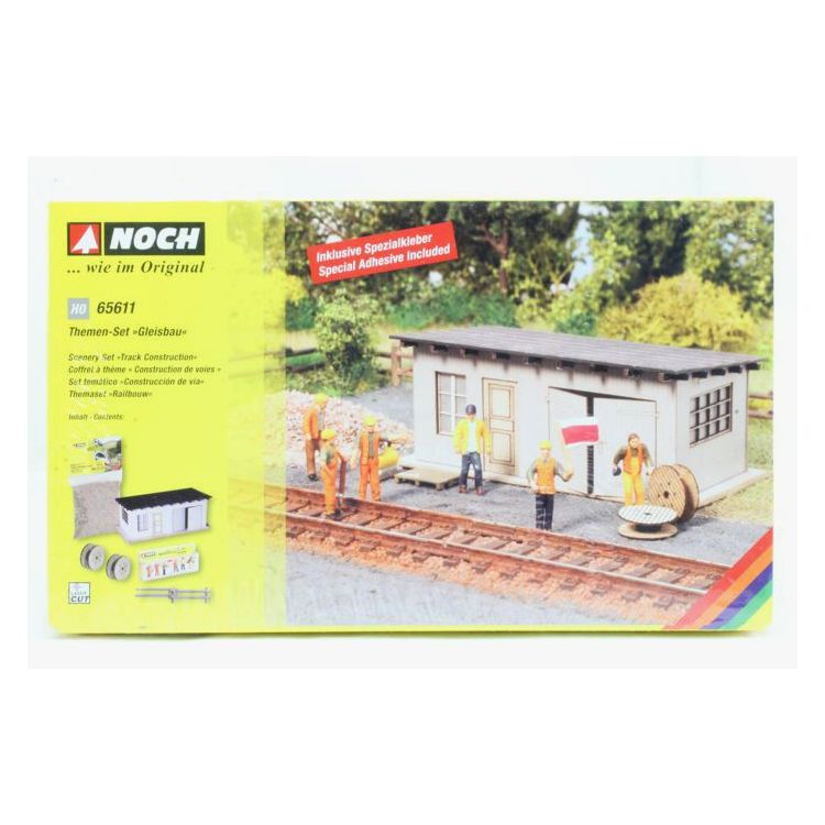 Tématický set - Železniční stavbári s búdou  NO65611