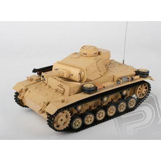 RC tank 1:16 Tauch PANZER III Ausf. H kouř. a zvuk. efekty