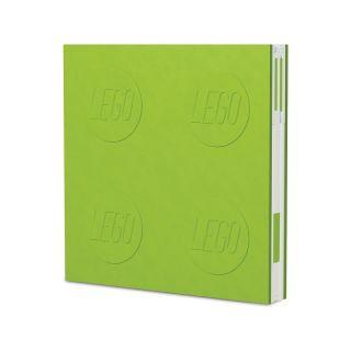 LEGO 2.0 zápisník s gelovým perem světle zelený