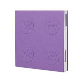 LEGO 2.0 zápisník s gelovým perem světle fialový