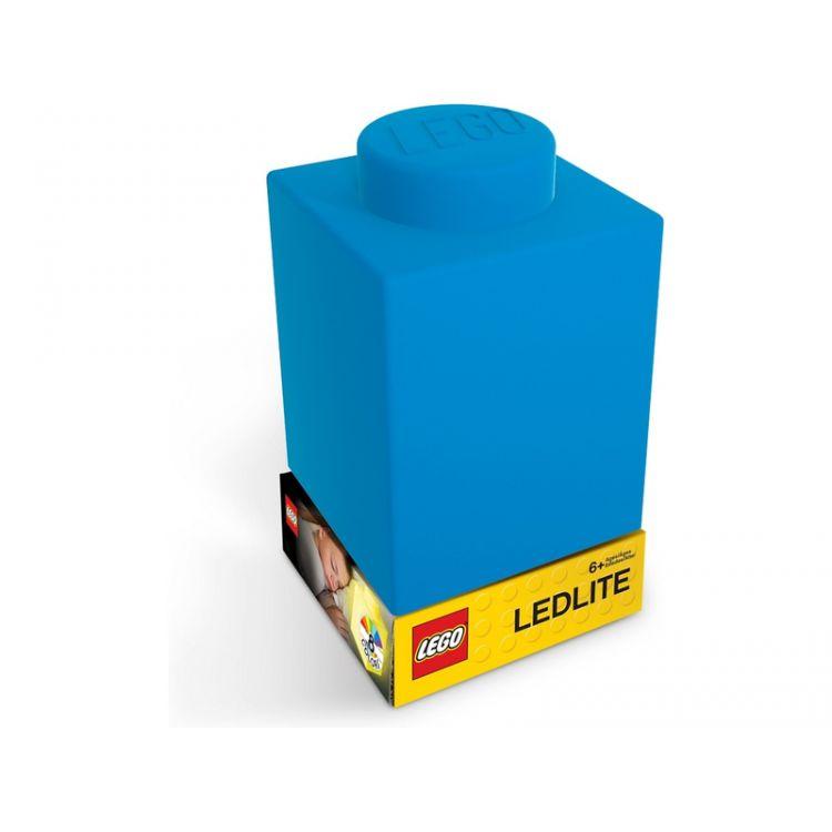 LEGO noční lampička Silikonová kostka modrá