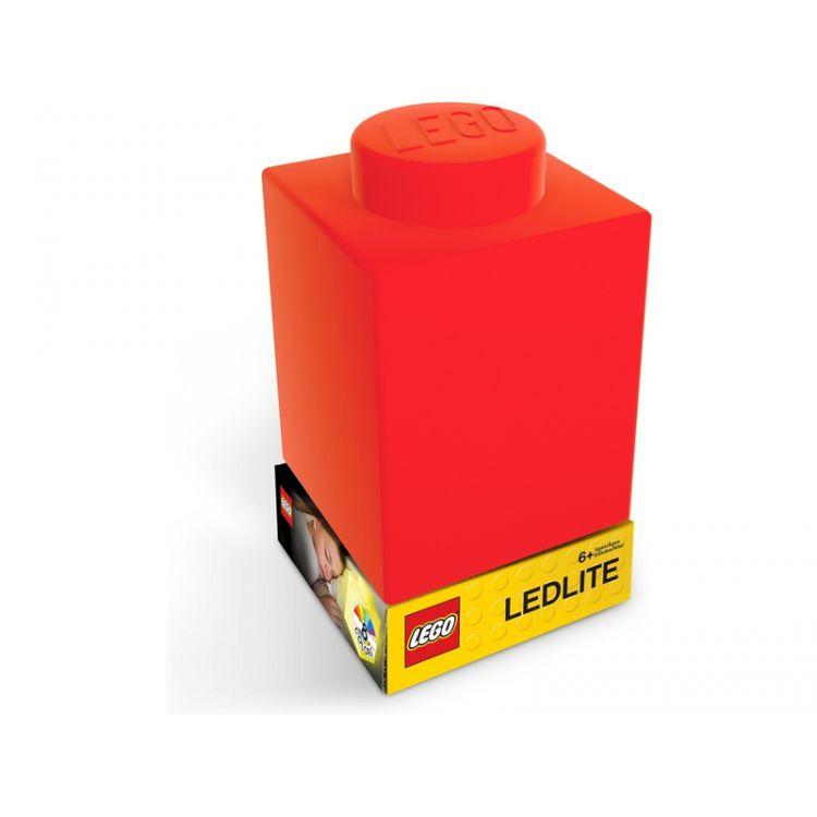 LEGO noční lampička Silikonová kostka červená