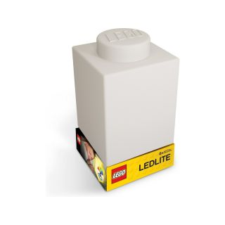 LEGO noční lampička Silikonová kostka bílá