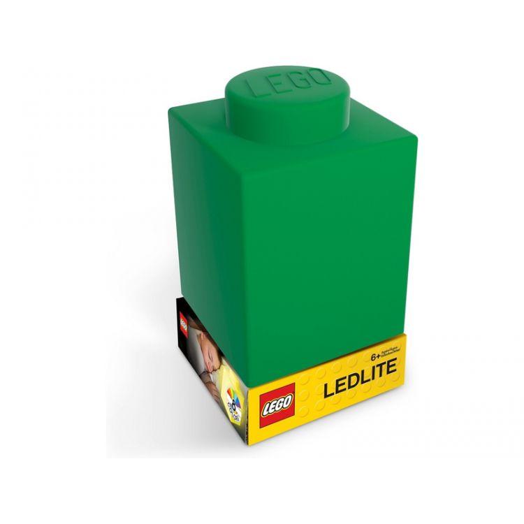 LEGO noční lampička Silikonová kostka zelená