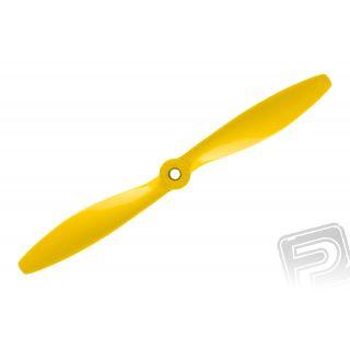 Nylon vrtule žlutá 10x6 (25x15 cm), 1 ks.