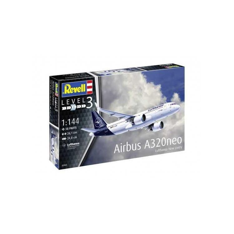 Modelset letadlo 63942 - Airbus A320 neo Lufthansa (1:144)