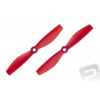 Dvoulisté vrtule 5x4,5 Pár CW+CCW (Červené)