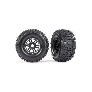 """Traxxas kolo 2.8/3.6"""", black wheels, Sledgehammer tires (2)"""