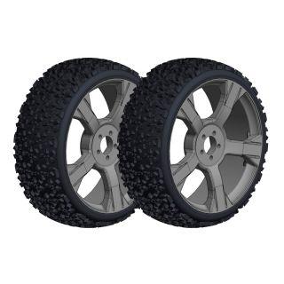 Off-Road 1/8 Buggy nalepené gumy - Gripper - černé disky - 1 pár