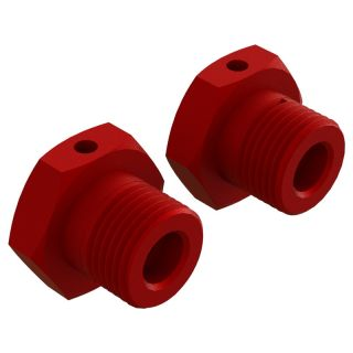 Arrma náboj kola 17mm hliník červený (2)