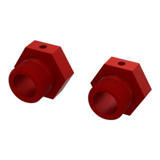 Arrma unašeč kola Hex 24mm, červený (2)