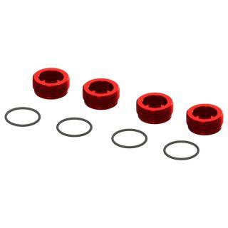 Arrma matice předního náboje červená, hliník (4)