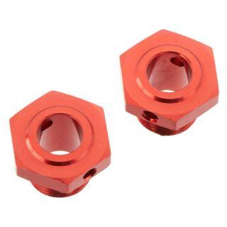 Arrma náboj kola 17mm/13.6mm hliník červený (2)