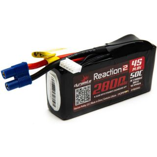 Dynamite LiPo Reaction2 14.8V 2800mAh 50C 96mm EC3