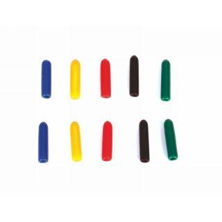 Koncové čiapočky na vypínače, farebné, dlhé, 10ks.
