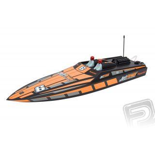 2306 JetPower A oranžový rychlostní člun RTR
