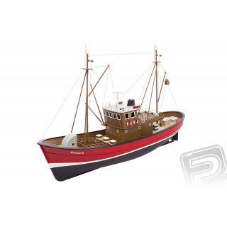 Borkum II rybářský člun 1:25 červený ARTR