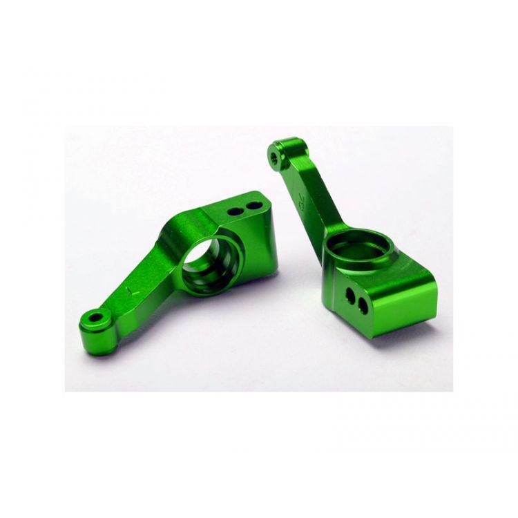 Traxxas těhlice zadní hliníková zelená (2)