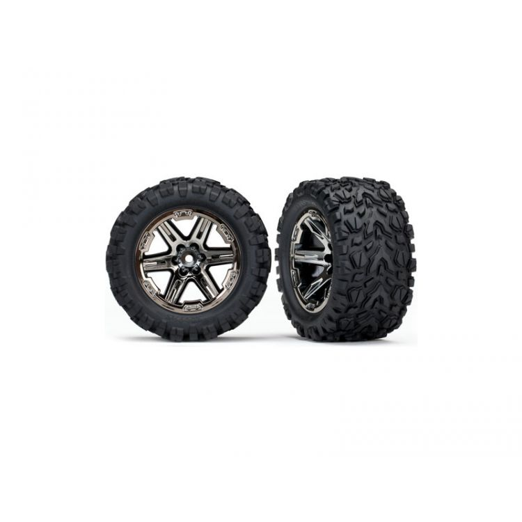 """Traxxas kolo 2.8"""", disk RXT černý chrom, pneu Talon Extreme (pár)"""