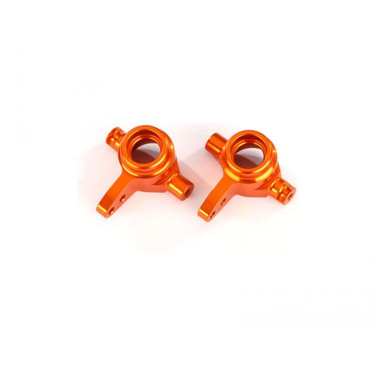 Traxxas těhlice přední hliníková oranžová (pár)