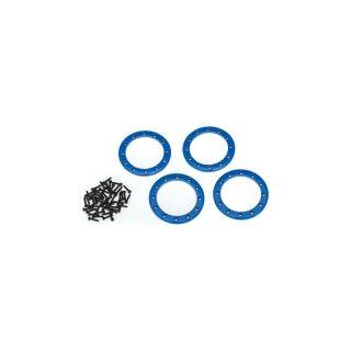 """Traxxas hliníkový beadlock kroužek 2.2"""" modrý (4)"""