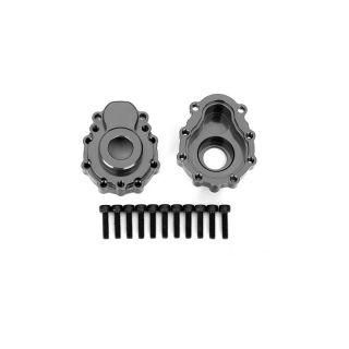 Traxxas vnější díl nápravy hliníkový šedý (2): TRX-4