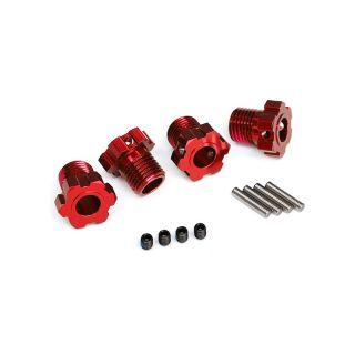 Traxxas náboj kola hliníkový červený 17mm (4)
