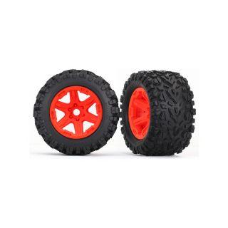 """Traxxas kolo 3.8"""", disk oranžový, pneu Talon EXT (pár)"""